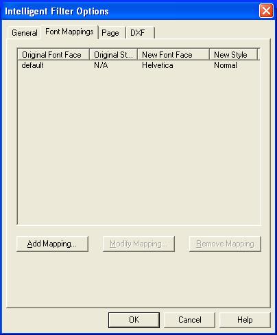 pdf2cad Font Options