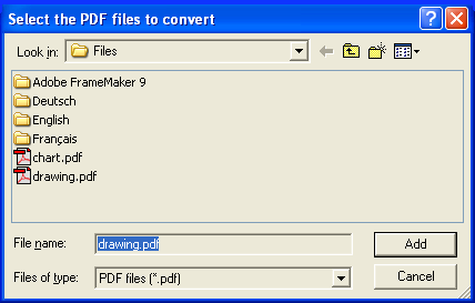 pdf2picture Select Files