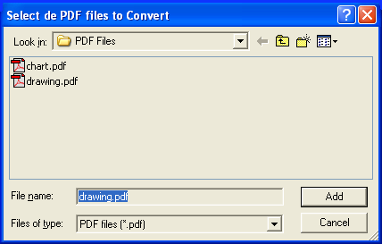 pdf2cad Select Files