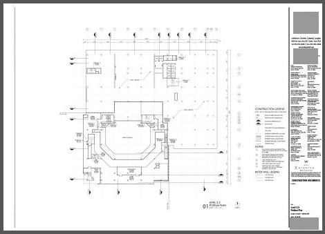 scanned drawing raster PDF