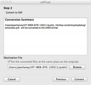 Conversion Summary pdf2cad