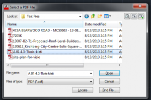 Select the PDF file you want to open in AutoCAD