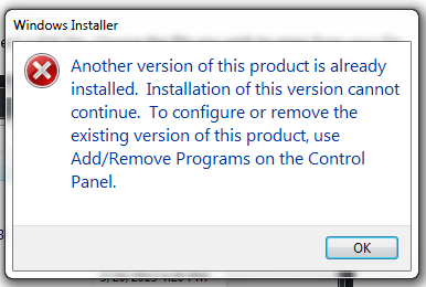 Uninstall Trial before upgrading to Full License