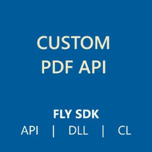 Custom PDF API