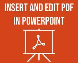 Insert PDF for PowerPoint