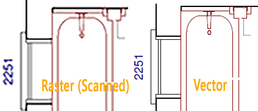 Scanned CAD drawing