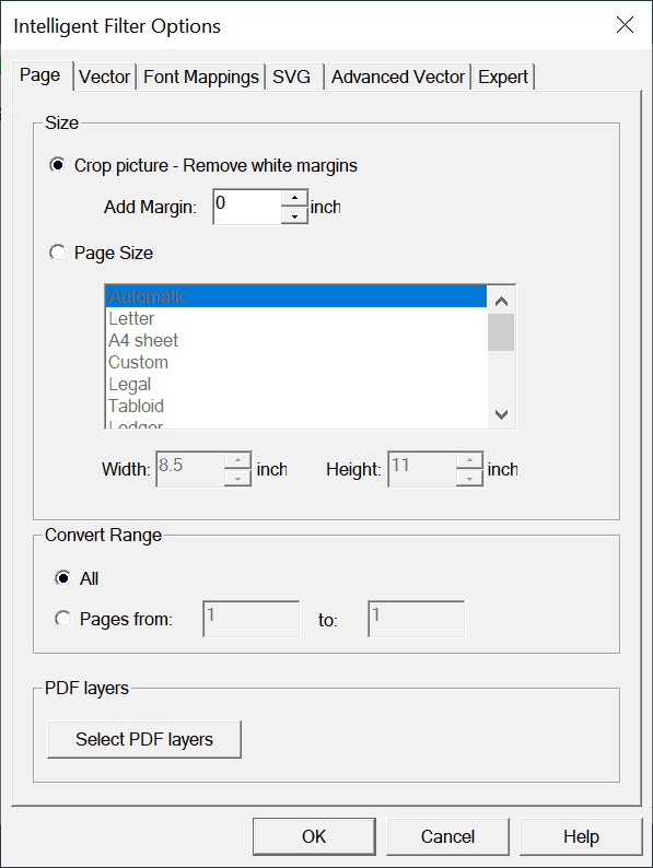 pdf2picture page options