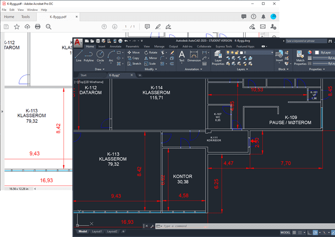PDF to DWG in AutoCAD with PDFin plug-in