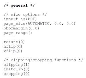 Visual integrity PDF API Options