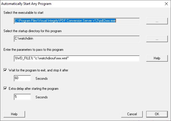 Convert PDF with Watch Folders